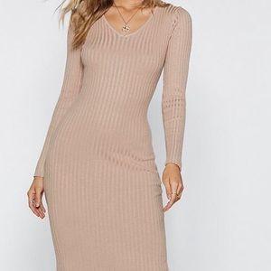 Brand New with tags Tan Midi Dress